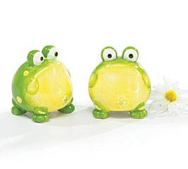 TOAD FROG CERAMIC SALT/PEPPER SET