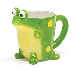 TOBY TOAD SHAPED CERAMIC MUG