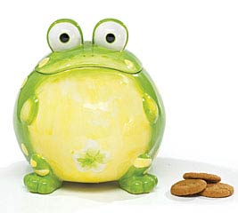 TOAD CERAMIC COOKIE JAR