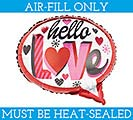 "14""FLAT HELLO LOVE BUBBLE MINI SHAPE"