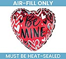 "9"" FLAT VALENTINE HEARTBREAKER BE MINE"