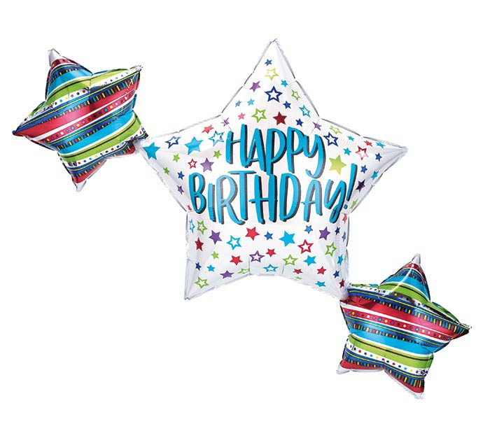 "39""PKG BIRTHDAY STAR TRIO"
