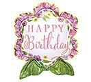 """27"""" PKG BIRTHDAY SATIN LUXE BALLOON"""