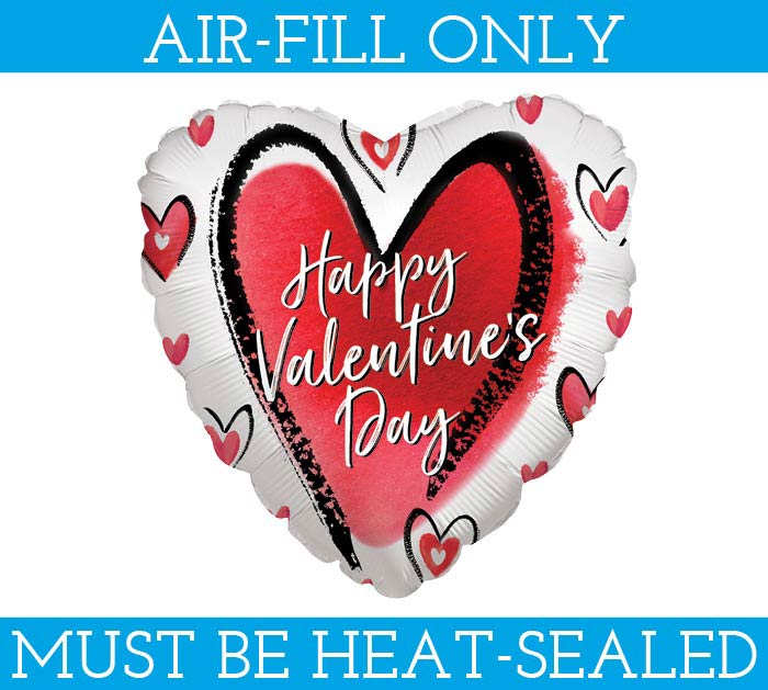 "4""FLAT LOVE IS ALL VALENTINE'S DAY HEART"