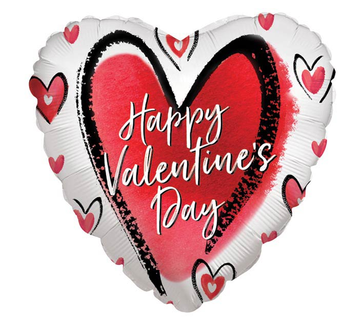 """4""""INFLATED LOVE IS ALL VALENTINE HEART"""