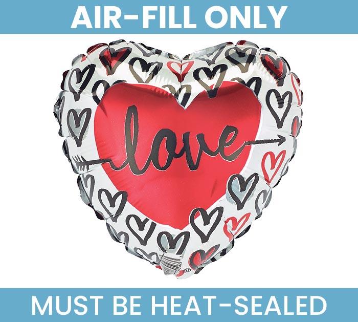 "9""FLAT LOVE HEARTS"