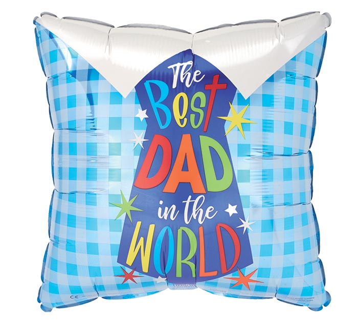 """17"""" BEST DAD SHIRT AND TIE SQUARE"""