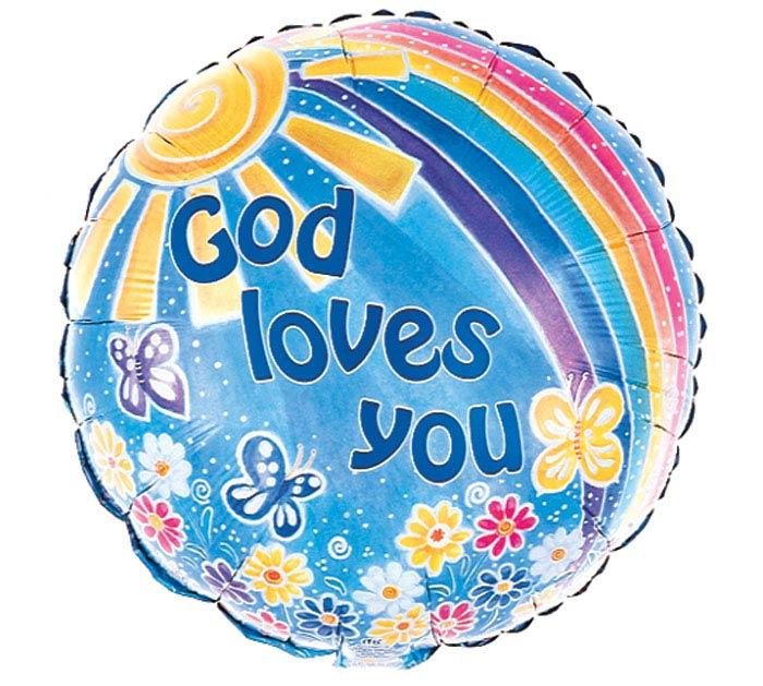 """17"""" GOD LOVES YOU"""