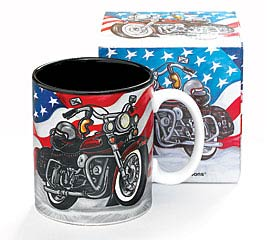 MOTORCYCLE CERAMIC MUG W/ BOX