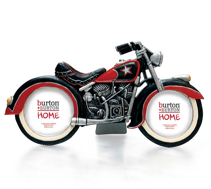 MOTORCYCLE SHAPED PICTURE FRAME