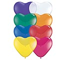 "6"" QUALATEX JEWEL HEART SHAPE ASSORTMENT"