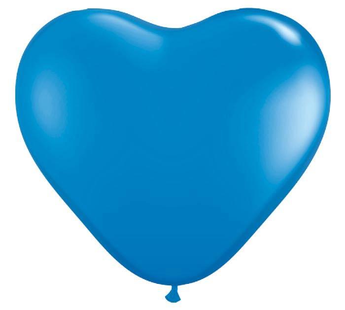 """6""""QUAL DK BLUE HEART"""