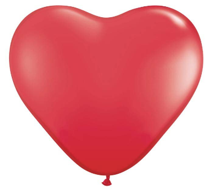 "6"" QUALATEX RED HEART SHAPE LATEX"