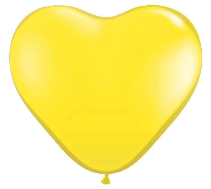 "6""QUAL YELLOW HEART"