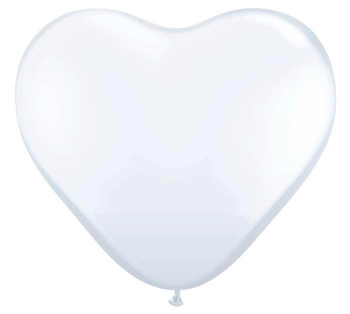 """6""""QUAL WHITE HEART"""