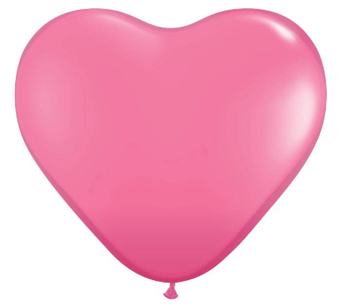 "6"" QUALATEX ROSE HEART LATEX"