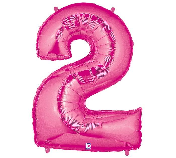 "34"" NUMBER 2 PINK MEGALOON"