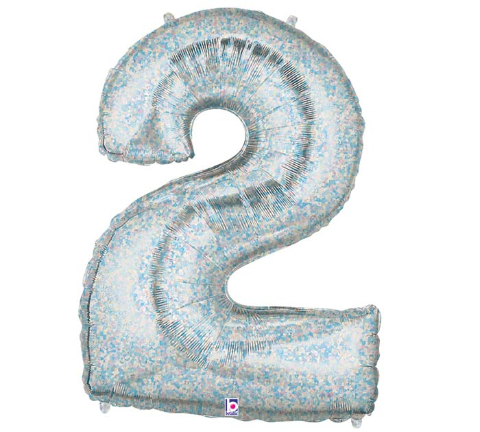 "34""PKG NUMBER 2 HOLOGRAPHIC MEGALOON"