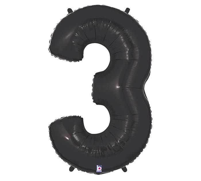"""37"""" NUMBER 3 BLACK MEGALOON"""