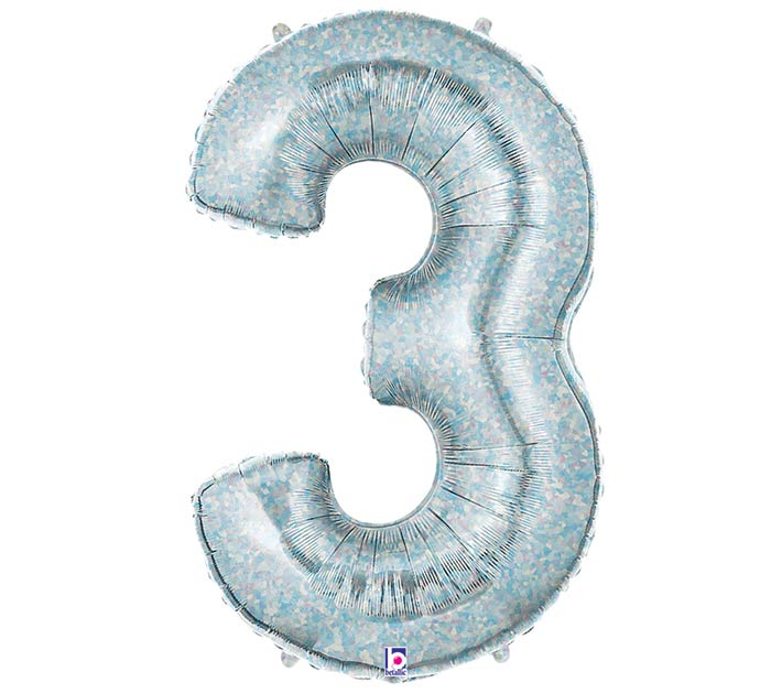 "37""PKG NUMBER 3 HOLOGRAPHIC MEGALOON"