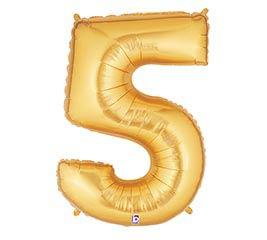 """36""""PKG NUMBER 5 GOLD MEGALOON"""