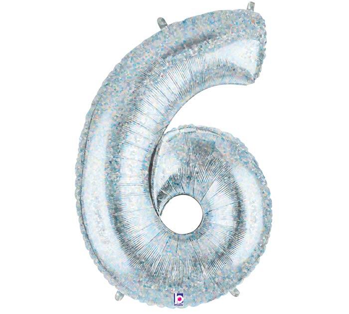 "38""PKG NUMBER 6 HOLOGRAPHIC MEGALOON"