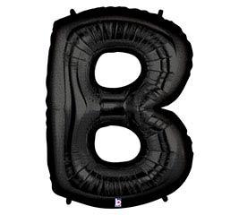 """37""""PKG LETTER B BLACK MEGALOON"""