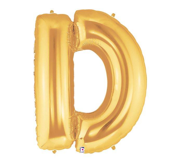 "33""PKG LETTER D GOLD MEGALOON"