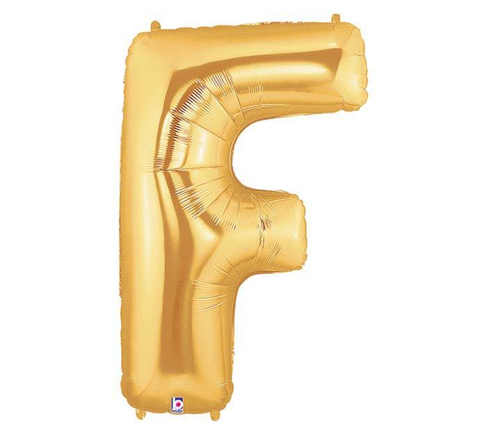 """34""""PKG LETTER F GOLD MEGALOON"""