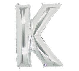 "33"" PKG LETTER K SILVER MEGALOON"