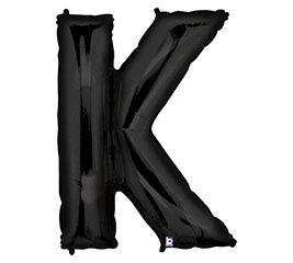 "35""PKG LETTER K BLACK MEGALOON"