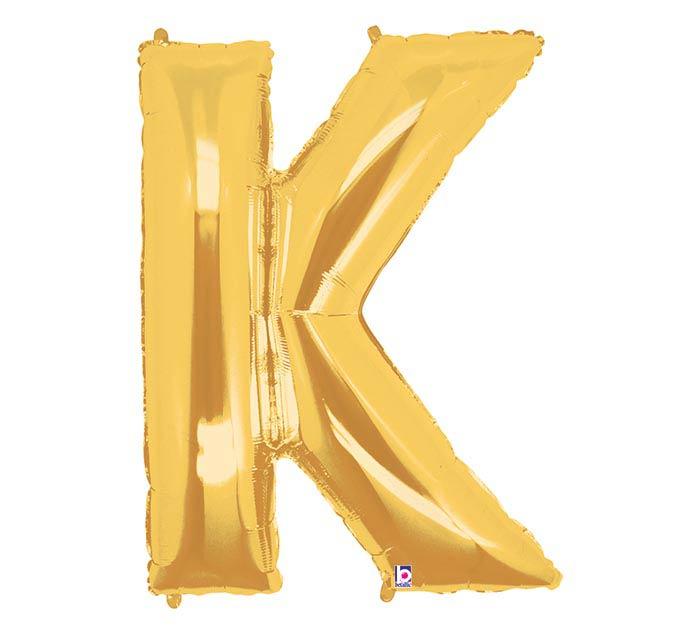 """33"""" LETTER K GOLD MEGALOON"""