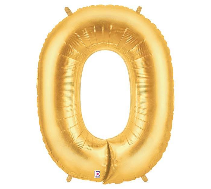 """35""""PKG LETTER O GOLD MEGALOON"""