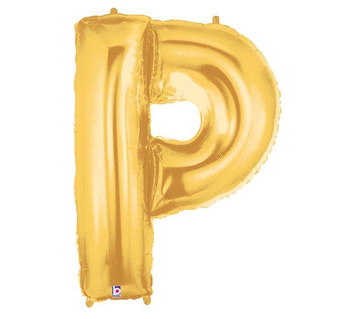 "33"" LETTER P GOLD MEGALOON"