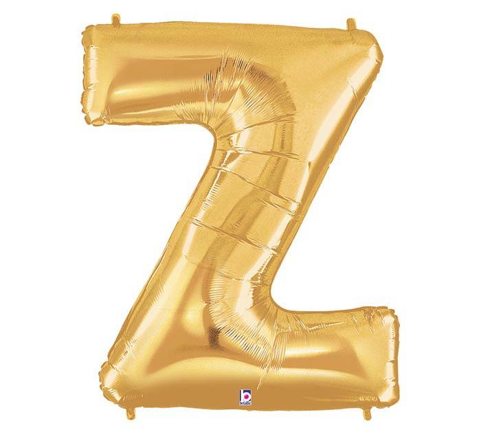 """34""""PKG LETTER Z GOLD MEGALOON"""