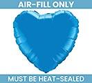 """4"""" FLAT BLUE HEART"""