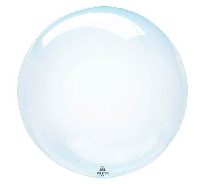 "18"" PKG BLUE CRYSTAL CLEARZ BALLOON"