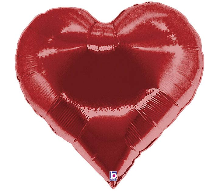 "30"" RED CASINO HEART SHAPE BALLOON"