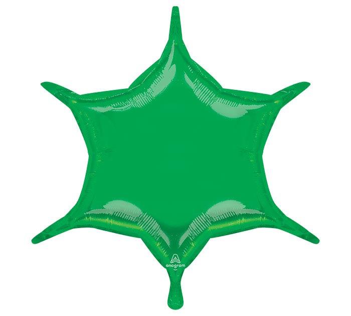 "22""SOL GREEN 6 POINT STAR"