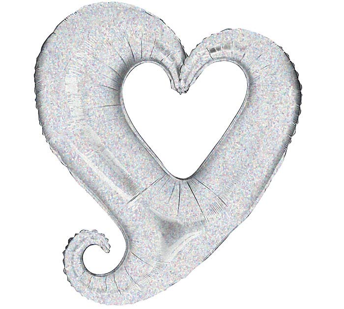 """37""""LUV SILVER HEART"""