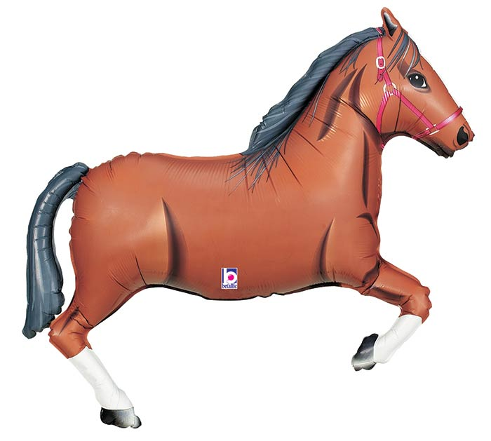 "14""INFLATED BROWN HORSE MINI SHAPE"