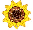 """14""""INFLATED SUNFLOWR"""