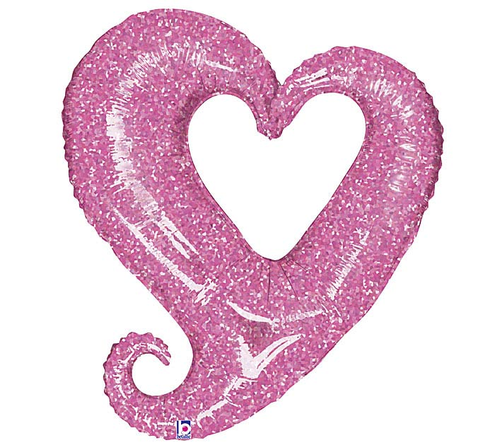 """37""""LUV PINK HEART"""