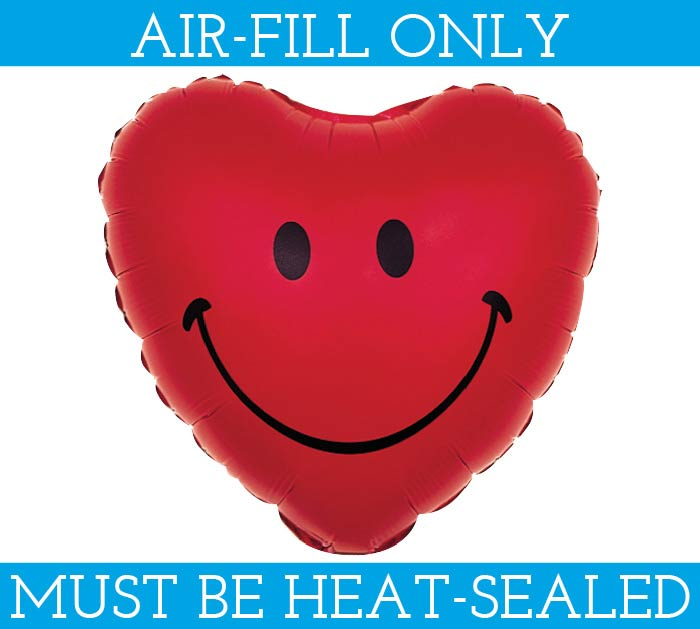 "4""FLAT SMILE FACE MINI SHAPE BALLOON"