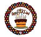 "18""PKG HBD HAPPY CAK"