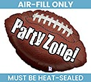 "14""FLAT PARTY ZONE FOOTBALL BALLOON"