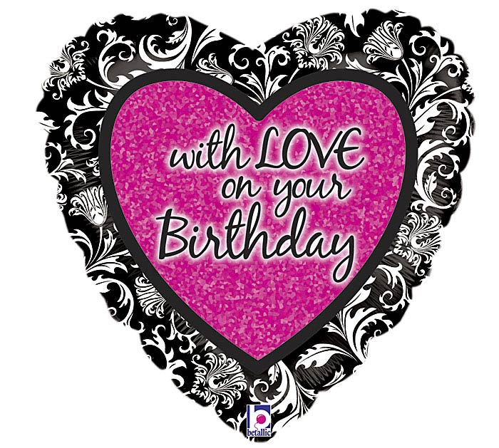 """18""""PKG HBD WITH LOVE"""