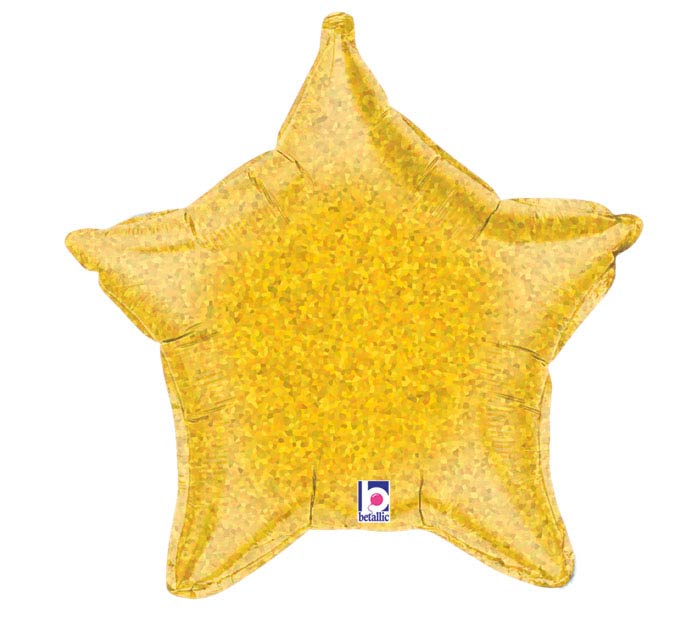 """21"""" HOLO GOLD STAR"""