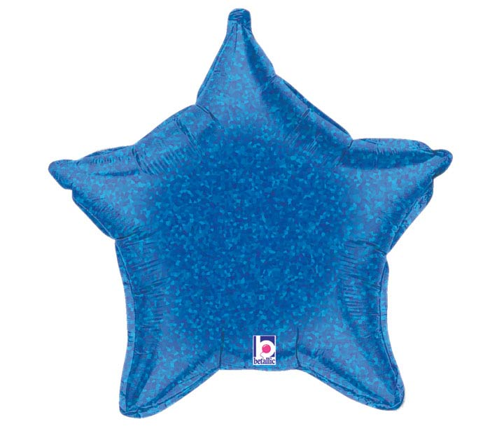 "21"" HOLO BLUE STAR"