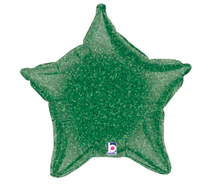 "21"" HOLO GREEN STAR"
